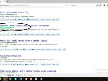 Top 5 rank In Google.co.ug