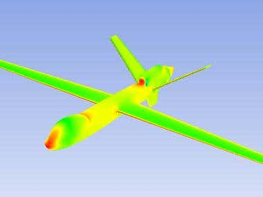 CFD over MQ-9 using ANSYS fluent