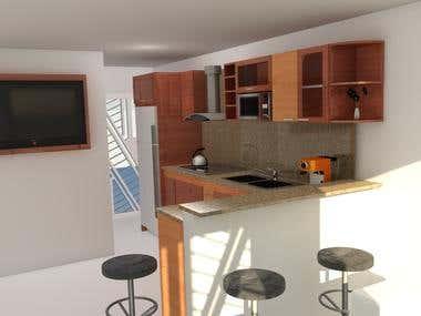 Cocina para Apartamento