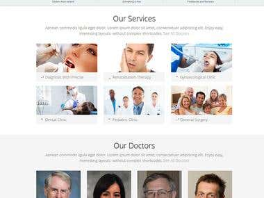 Physician Listing Website.