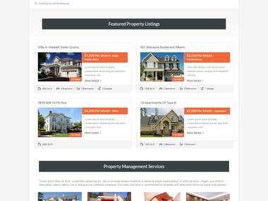 Real Estate Property Listing Website