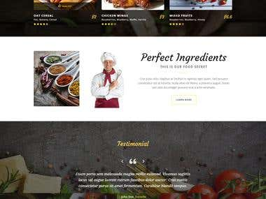 Food related (restaurant) website