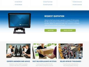 Product (monitor) Manufactural Website