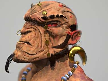 Orc Tribal Leader (Concept A. Smith)