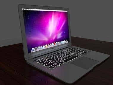 Laptop/ Airbook/ Product Render/Product Modelling