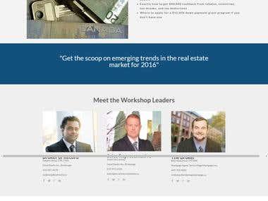 Wordpress one page site
