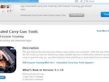 Mobile App (USA Firearm Traning)