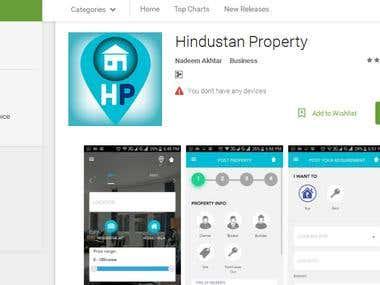 Andriod Mobile App (Hindustan Properties)