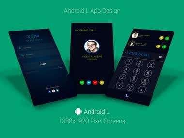Android L App Design