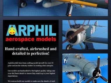 Leaflet designs for arphilmodels.com