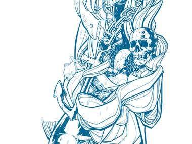 """Sinking Vanity"" (commission - tattoo)"