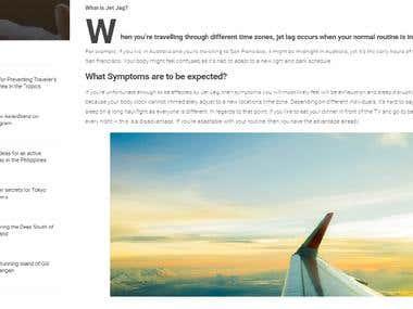 Jet Lag Prevention Article