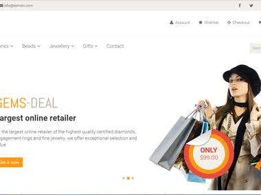 Gemsdeal ecommerce Website