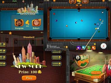 8 Ball Pool Like Game (Unity 3D)