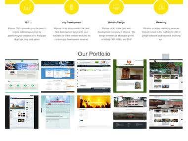 Web portfolio website