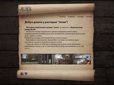 """Website - Restaurant """"Jelek"""""""