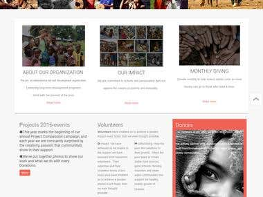 Joomla Web development for Australian Charity Organization