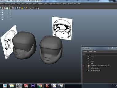 3D modelling using MAYA