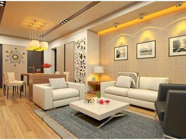 3d interior render