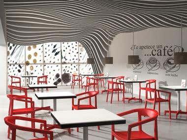 Modern bar-restaurant