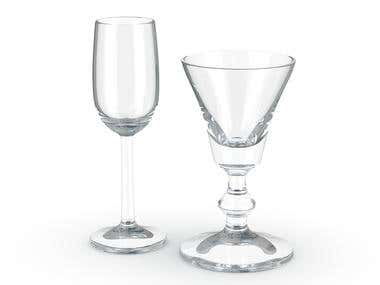 Glass, modeling and rendering