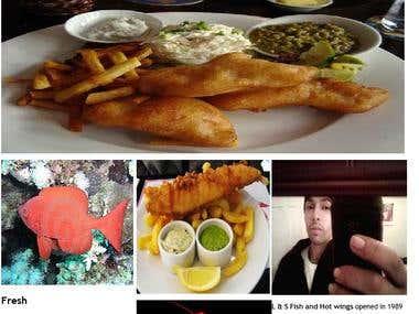 Mock Fish n Chips restaurant website