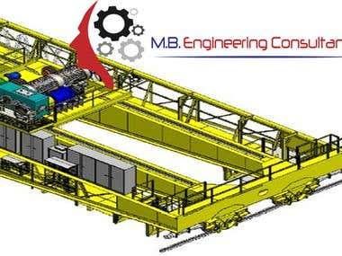 OVERCRANE BRIDGE DESIGN SOLID WORKS