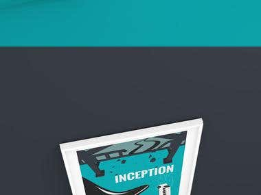 Inception Poster | Inspired by Olly moss