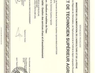 national French diploma