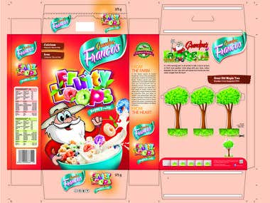 Francos (Cornflakes, choco pops and variants) packaging
