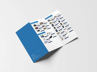 Catalogue Design A4 12x18 Z-Fold