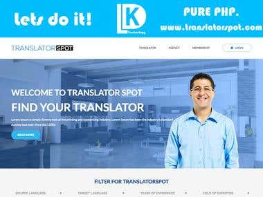 www.translatorspot.com - Pure PHP