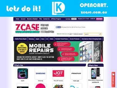 zcase.com.au - Opencart