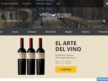 Diseño Web/Web Design Responsive vinosylicores.com.co
