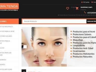 Diseño Web/Web Design Responsive dermatienda.com