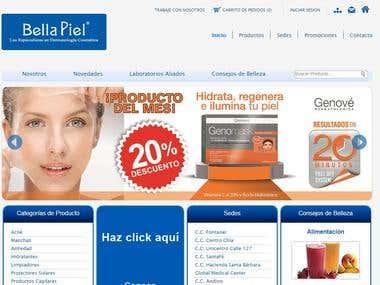 Diseño Web/Web Design Responsive bellapiel.com.co