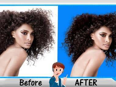 image hair masking