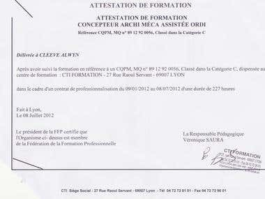 AutoCAD certification