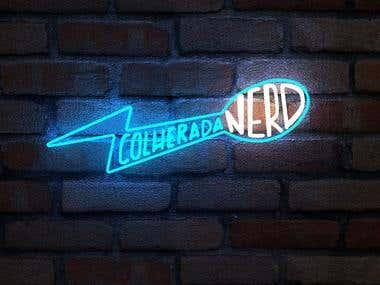Logo Design Colherada Nerd