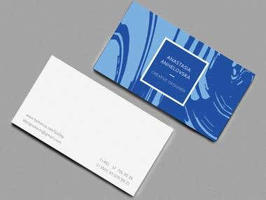 Redesign of my own business cards
