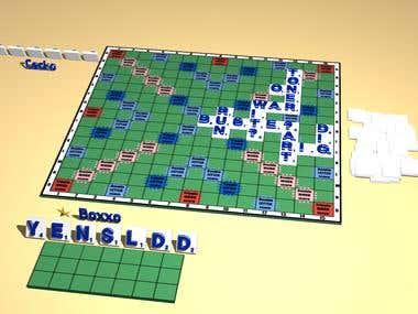 Online 3D Scrabble
