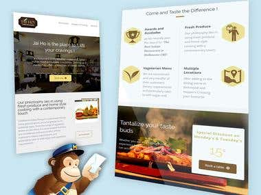 Email Template for Melbourne Based Indian Food Chain