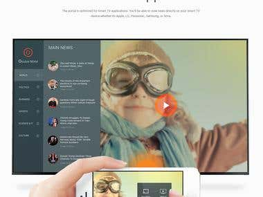 News portlal design concept
