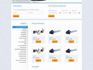 spare parts Ecommerce website
