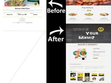 Before & After maminoras website