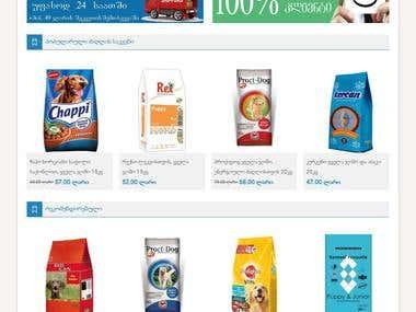 Petfood online store