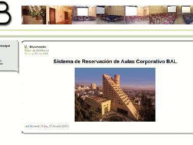 Online reservation system / Sistema de Reservacion de Aulas