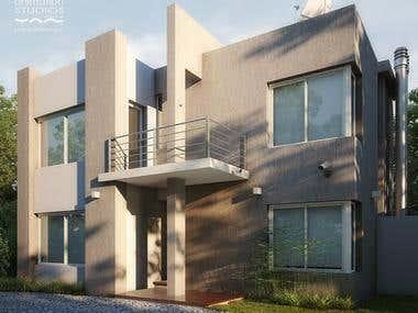 Exterior Modern Architectural impression