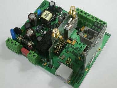 DIN RAIL GSM/GPRS Modem & ISM MESH NETWORK controller