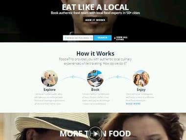 FoodieTrip site - content writing & translating